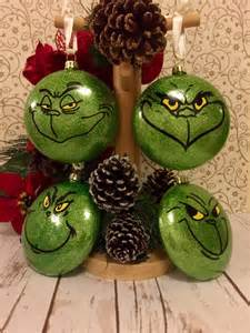 christmas ornaments set grinch baubles set of 4 christmas tree decorations christmas wine