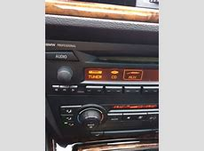 AUX option on BMW Professional radio missing, Pics attached