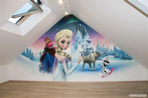 reine des neiges chambre chambres de filles décoration graffiti deco