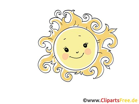 Sonne Clip Art, Bild, Cartoon, Comic, Grafik