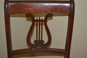 vintage mahogany empire style lyre back chair by tell city chair ebth