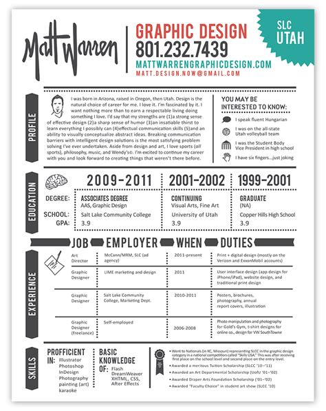 19659 graphic designer resume template graphic designer resume infografia curriculum empleo