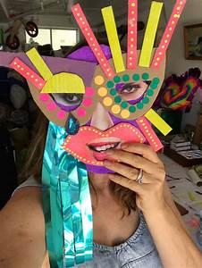 Making Cardboard Masks With Kids