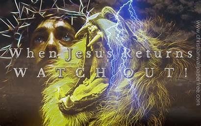 Jesus Returns Christian Return Backgrounds Kingdom God