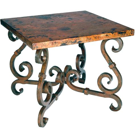 rustic wrought iron table ls end tables designs rod iron end tables rustic french