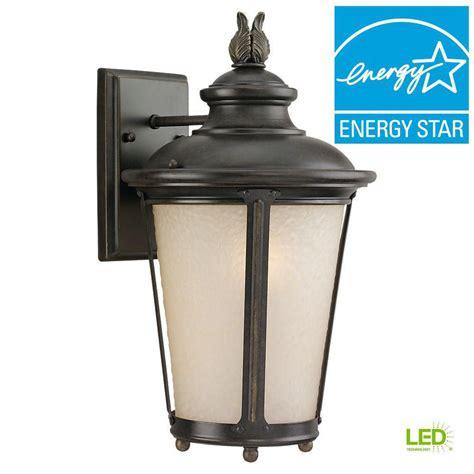 sea gull lighting cape may 1 light outdoor burled iron led