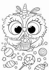 Coloring Bojanke Owl Unicorn Colouring Cuties Animal Printables Printable раскраски Sheets Disney Preschool антистресс Slatkice Bonton Målarböcker Adult Rita Poppy sketch template