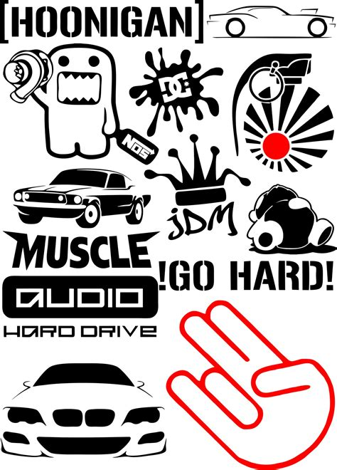 vinyl stickers  badges vector pack  vector cdr