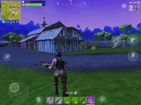 fortnite mobile   move  navigate  island