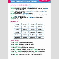 Countableuncountable Nouns Countable And Uncontable Nouns Exercise