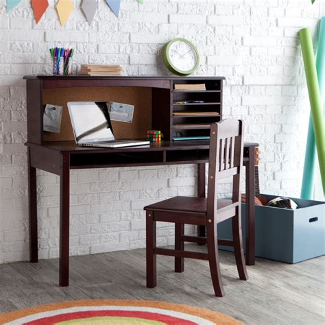 desk and chair set guidecraft media desk chair set espresso hayneedle for