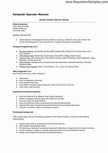 13 computer skills resume samplebusinessresumecom With computer resume template