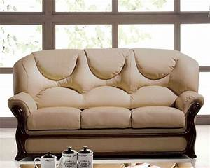 italian leather sofa bed european design in beige finish With italian leather sofa