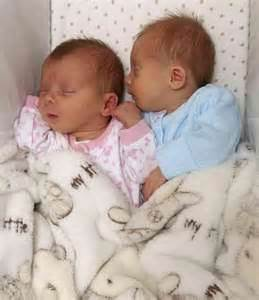 Cute Newborn Baby Girl Identical Twins