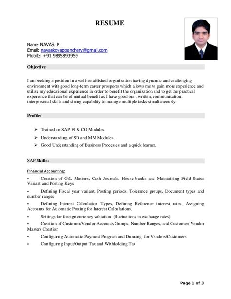 Sap Mm Resume Sle Pdf by Sap Mm Resume For Fresher 17 Images Information Technology Resume Exles Physical Home