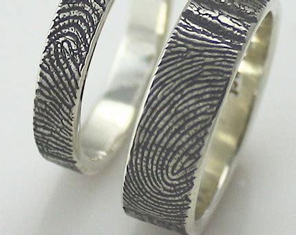 fingerprint wedding rings the beading gem s journal