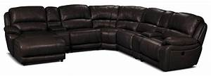 marco genuine leather 7 piece sectional chocolate the brick With 7 piece sectional sofa leather