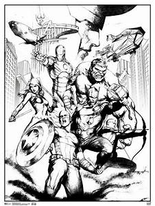 Marvel, Avengers, Group, Comic, Books, Coloring, Poster, 18x24, Inch