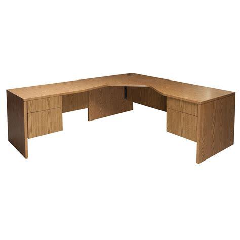 oak l shaped desk james edward used left return l shaped desk medium oak