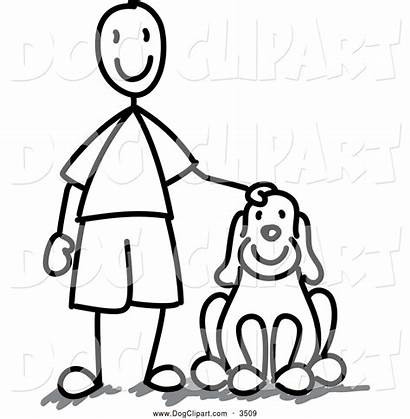 Dog Clipart Clip Stick Boy Caring Frog974