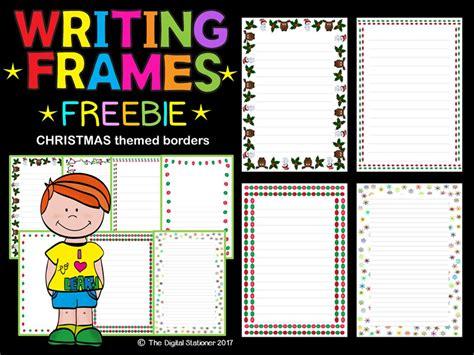 christmas winter writing frames page borders freebie