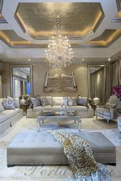Glamorous Luxury Living Room With False Ceiling And Modern