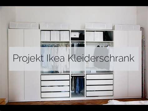 projekt ikea kleiderschrank youtube