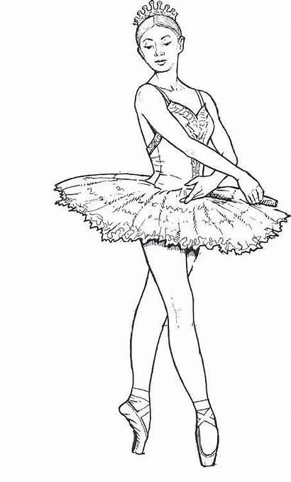 Ballerina Coloring Pages Teenagers Ballet Dance Dancers