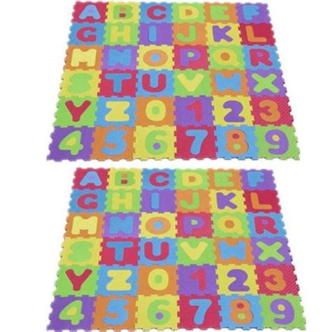 tapis de jeu en mousse blackspur lot de 2 tapis de jeu en mousse souple pour enfants puzzle l