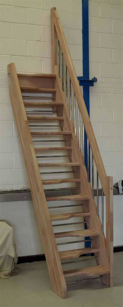 Spacesaver Staircases by Alternating Tread Staircases Beech 40 Openplan