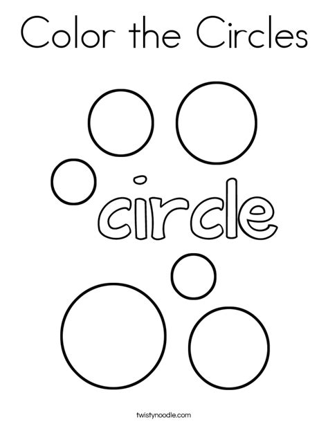 circle coloring page color the circles coloring page twisty noodle