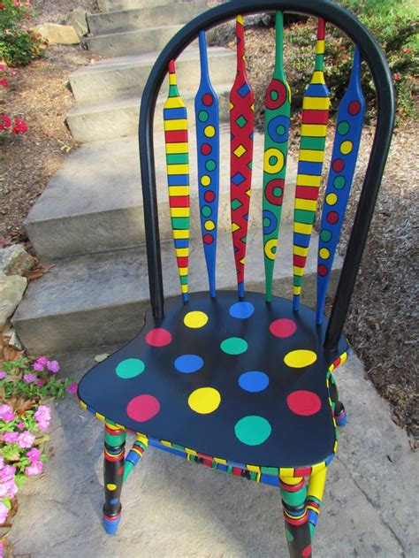 25 best ideas about painted chairs on