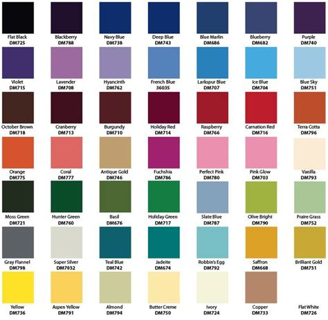image result for rustoleum enamel spray paint color chart
