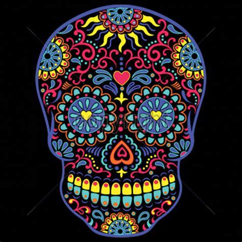 colorful sugar skull day of the dead colorful neon sugar skull t shirt ebay
