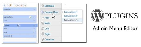 wordpress plugins admin menu editor
