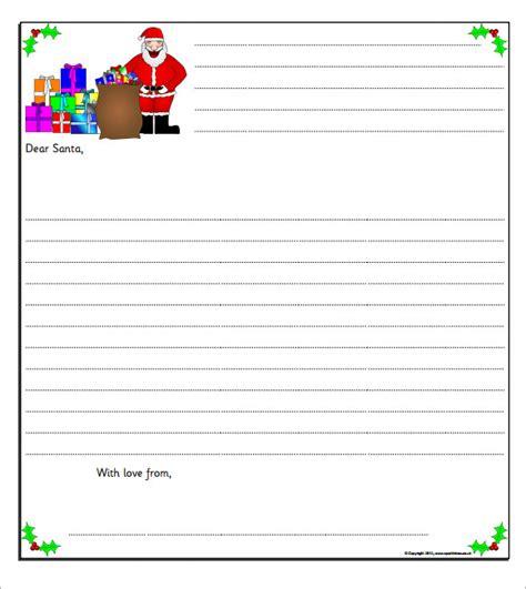 santa letter template    documents