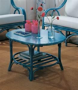 Table Basse Ovale En Rotin Brin D39Ouest