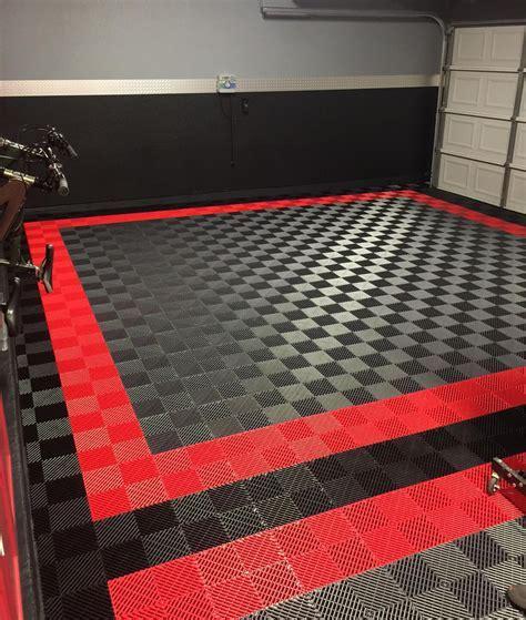 Free Flow Self Draining Garage Flooring   RaceDeck