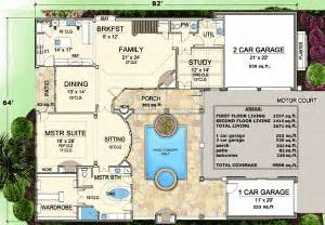 house plan with courtyard plan w36144tx spacious courtyard house plan e