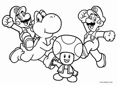 Coloring Pages Mario Printable Brothers Gorgeous Colouring
