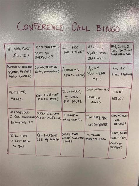 game  conference call bingo  poke