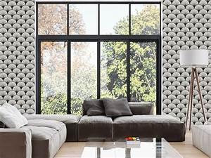 Papier Peint Repositionnable : superb papier peint adhesif mural 10 cubic papier ~ Zukunftsfamilie.com Idées de Décoration
