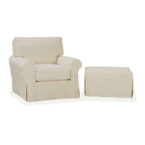 slipcover for chair and ottoman nantucket slip cover suite arm chair and ottoman wayfair