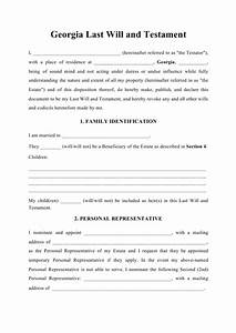 Download A Will Template Last Will And Testament Georgia United States Download