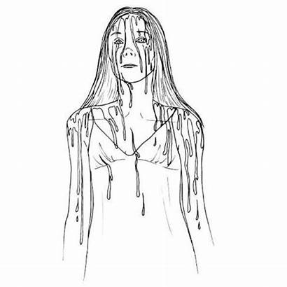 Coloring Pages Colouring Horror Adult Carrie Scary