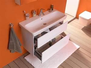 Mobilier Salle De Bain : mobilier de salle de bain suspendu metropole vitra ~ Teatrodelosmanantiales.com Idées de Décoration