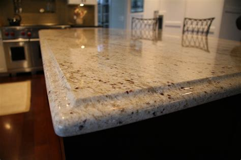 colonial granite island counter with ogee edge