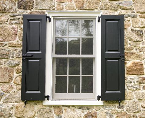 House Exterior Window Shutters