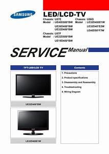 Manual De Servi U00e7o Tv Led Samsung Ue26d4003 Chassis U57e By