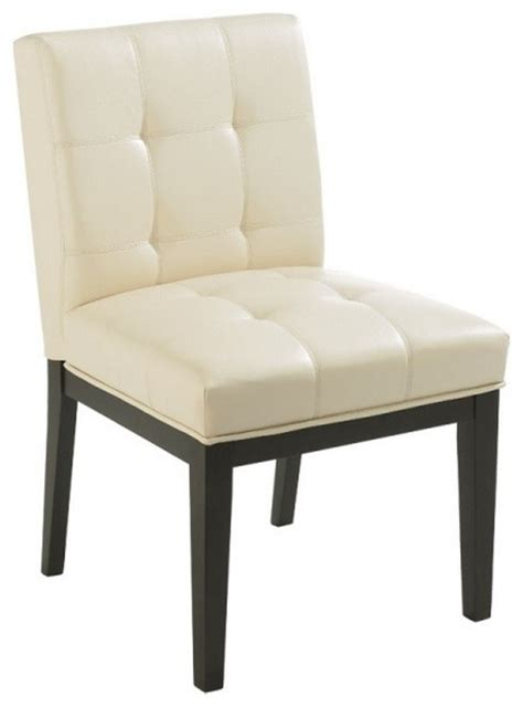 tufted low back leather chair transitional